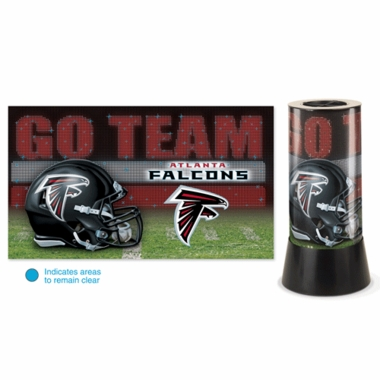 Atlanta Falcons Rotating Lamp