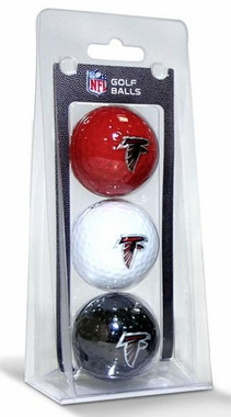 Atlanta Falcons Set of 3 Multicolor Golf Balls
