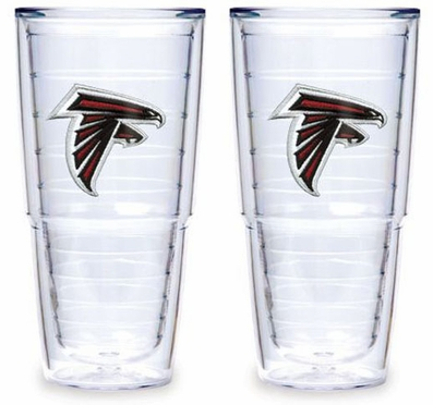 "Atlanta Falcons Set of TWO 24 oz. ""Big T"" Tervis Tumblers"