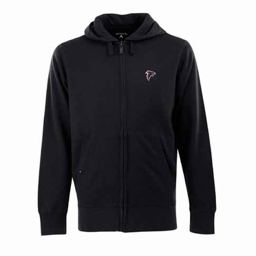 Atlanta Falcons Mens Signature Full Zip Hooded Sweatshirt (Alternate Color: Black)