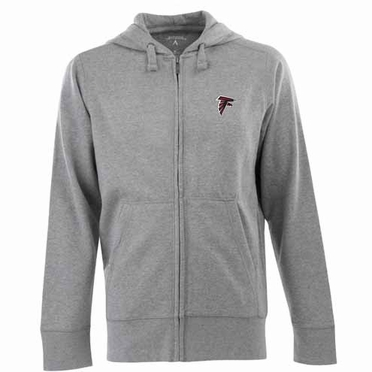 Atlanta Falcons Mens Signature Full Zip Hooded Sweatshirt (Color: Gray)