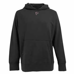 Atlanta Falcons Mens Signature Hooded Sweatshirt (Alternate Color: Black) - Small