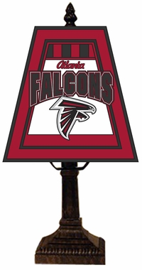 Atlanta Falcons Small Art Glass Lamp