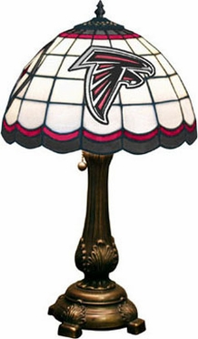 Atlanta Falcons Stained Glass Table Lamp