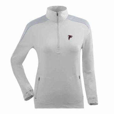 Atlanta Falcons Womens Succeed 1/4 Zip Performance Pullover (Color: White)