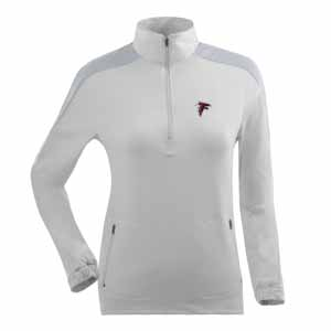 Atlanta Falcons Womens Succeed 1/4 Zip Performance Pullover (Color: White) - Small