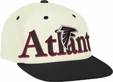 Atlanta Falcons Team Name and Logo Snapback Hat