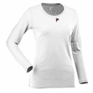 Atlanta Falcons Womens Relax Long Sleeve Tee (Color: White) - X-Large