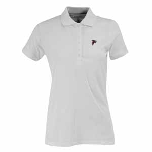 Atlanta Falcons Womens Spark Polo (Color: White) - Large