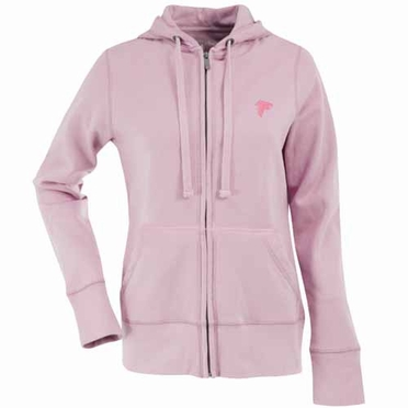 Atlanta Falcons Womens Zip Front Hoody Sweatshirt (Color: Pink)