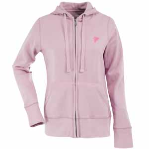 Atlanta Falcons Womens Zip Front Hoody Sweatshirt (Color: Pink) - Large