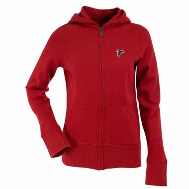 Atlanta Falcons Womens Zip Front Hoody Sweatshirt (Team Color: Red)
