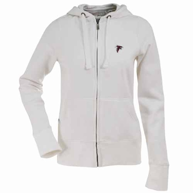 Atlanta Falcons Womens Zip Front Hoody Sweatshirt (Color: White)
