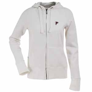 Atlanta Falcons Womens Zip Front Hoody Sweatshirt (Color: White) - Large