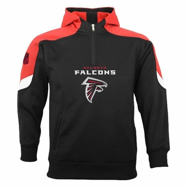 Atlanta Falcons YOUTH Kick Off 1/4 Zip Performance Hoody