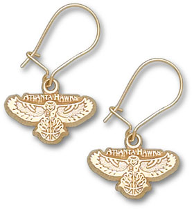 Atlanta Hawks 10K Gold Post or Dangle Earrings