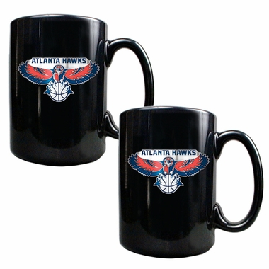 Atlanta Hawks 2 Piece Coffee Mug Set