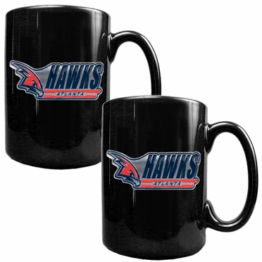 Atlanta Hawks 2 Piece Coffee Mug Set (Wordmark)