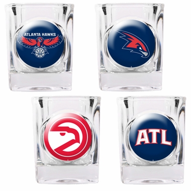 Atlanta Hawks 4 Piece Assorted Shot Glass Set