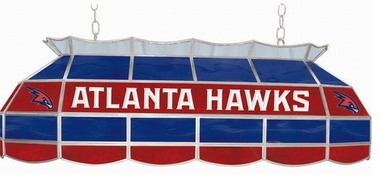 Atlanta Hawks 40 Inch Rectangular Stained Glass Billiard Light