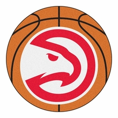 Atlanta Hawks Basketball Shaped Rug