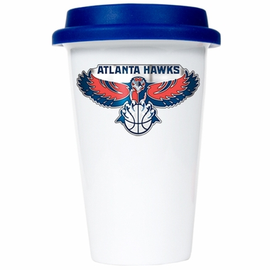 Atlanta Hawks Ceramic Travel Cup (Team Color Lid)