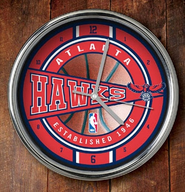 Atlanta Hawks Chrome Clock