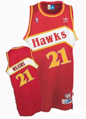 Atlanta Hawks Dominique Wilkins Adidas Team Color Throwback Replica Premiere Jersey