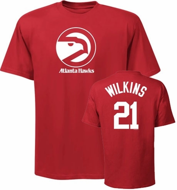 Atlanta Hawks Dominique Wilkins Player Name and Number T-Shirt