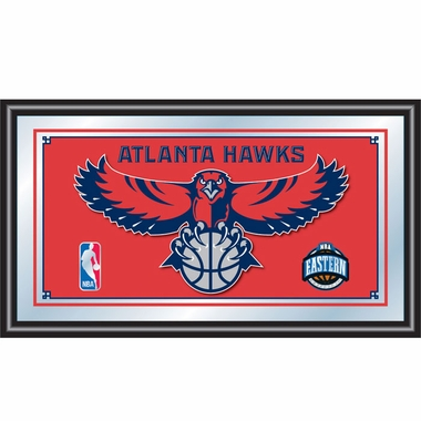 Atlanta Hawks Framed Logo Bar Mirror