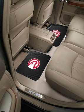 Atlanta Hawks SET OF 2 Heavy Duty Vinyl Rear Car Mats