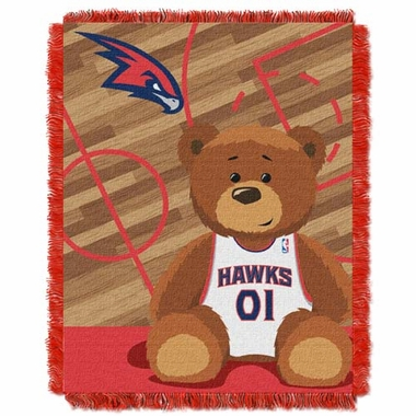 Atlanta Hawks Jacquard BABY Throw Blanket