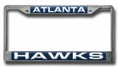 Atlanta Hawks Laser Etched Chrome License Plate Frame