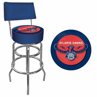 Atlanta Hawks Padded Bar Stool with Back