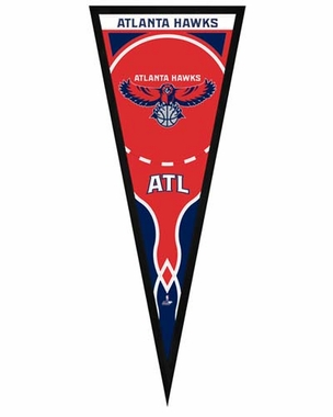 "Atlanta Hawks Pennant Frame -13"" x 33"" (No Glass)"