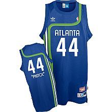 Atlanta Hawks Pete Maravich Adidas Team Color Throwback Replica Premiere Jersey