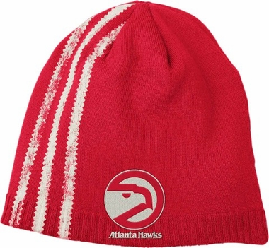 Atlanta Hawks Retro Cuffless Distressed Striped Knit Hat