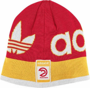 Atlanta Hawks Throwback Striped Knit Hat