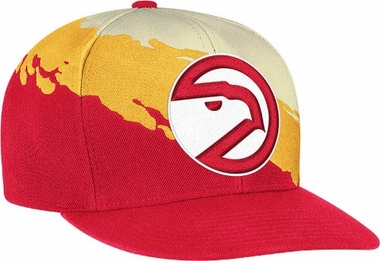 Atlanta Hawks Vintage Paintbrush Snap Back Hat