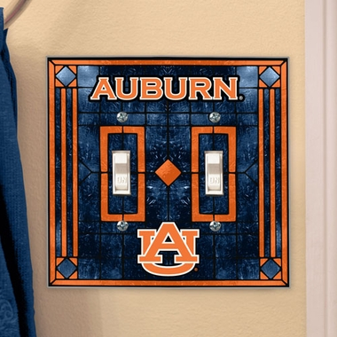 Auburn Art Glass Lightswitch Cover (Double)