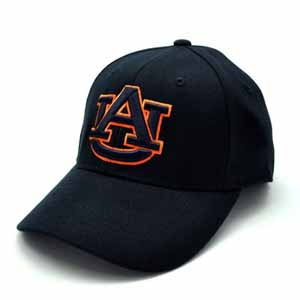 Auburn Black Premium FlexFit Baseball Hat - Small / Medium