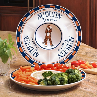 Auburn Ceramic Chip and Dip Plate