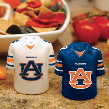 Auburn Ceramic Jersey Salt and Pepper Shakers