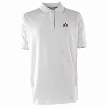 Auburn Mens Elite Polo Shirt (Color: White)