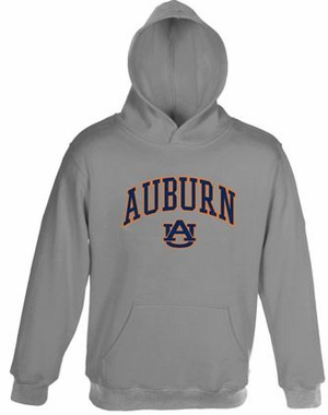 Auburn Embroidered Hooded Sweatshirt (Grey)