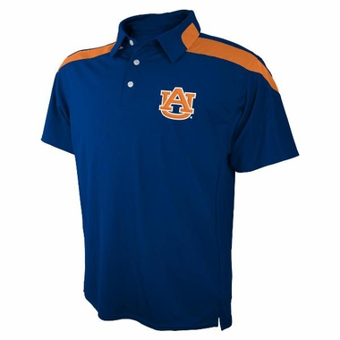 Auburn Embroidered Logo Polyester Polo Shirt