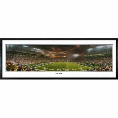 Auburn End Zone Framed Panoramic Print