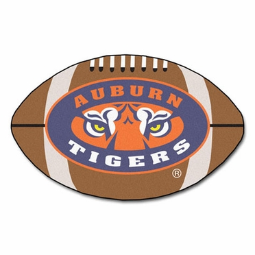 Auburn Football Shaped Rug