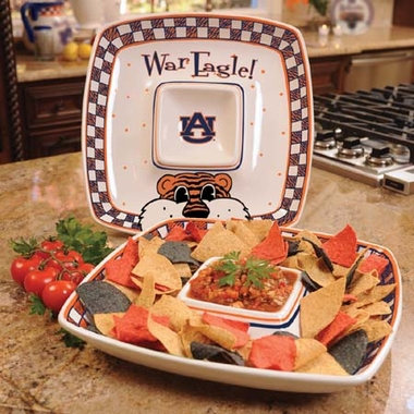 Auburn Gameday Ceramic Chip and Dip Platter