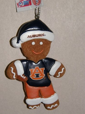 Auburn Gingerbread Man Christmas Ornament